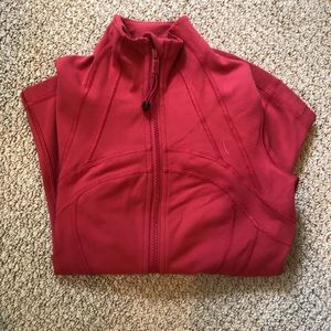 red/orange lululemon define jacket
